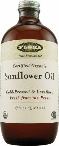Flora Organic Sunflower Oil Perspective: front