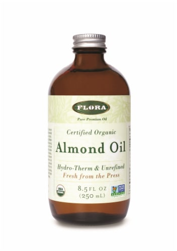 Flora Organic Almond Oil Perspective: front