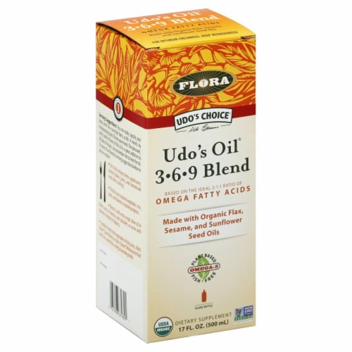 Udo's Choice 3-6-9 Blend Omega Fatty Acids Perspective: front