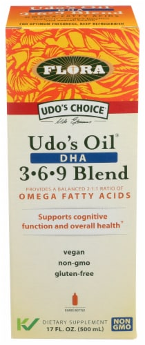Flora Udo's Choice Udo's Oil DHA 3-6-9 Blend Perspective: front