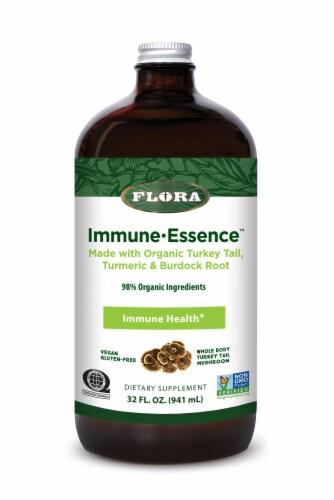 Flora Organic Turkey Tail Turmeric & Burdock Root Immune Essence Perspective: front