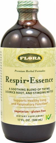 Flora Respir-Essence Dietary Supplement Perspective: front