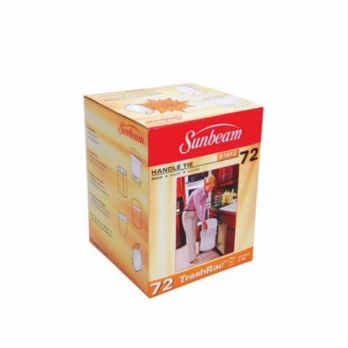Trashrac 5 gal. Trash Bags Handle Tie 72 pk - Case Of: 1; Each Pack Qty: 72; Total Items Qty: Perspective: front