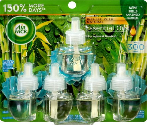 Air Wick Essential Oils Blue Agave & Bamboo Refills Perspective: front