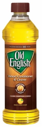 Old English Fresh Lemon Scent Wood Conditioner & Cleaner Perspective: front