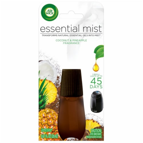 Air Wick Essential Mist Coconut & Pineapple Fragrance Mist Refill Perspective: front