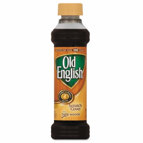 Old English  No Scent Scratch Cover Polish Light Wood  8 oz. Liquid - Case Of: 6; Perspective: front