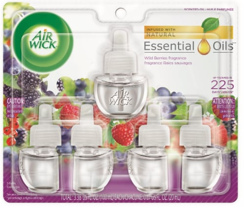 Air Wick Wild Berry Fragrance Scented Oil Refills Perspective: front