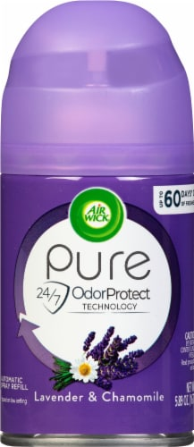 Air Wick® Lavender & Chamomile Fragrance Automatic Spray Refill Perspective: front