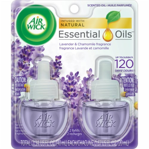 Air Wick Lavender & Chamomile Scented Oil Refills Perspective: front