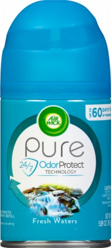 Air Wick Pure Fresh Waters Air Freshener Automatic Spray Refill Perspective: front