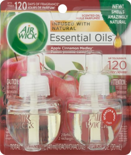 Air Wick Apple Cinnamon Medley Scented Oil Refills Perspective: front