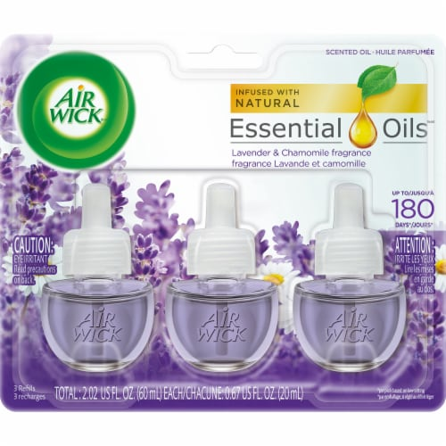 Air Wick® Lavender & Chamomile Scented Oil Refills Perspective: front