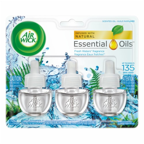 Air Wick Fresh Waters Scented Oil Refills Perspective: front