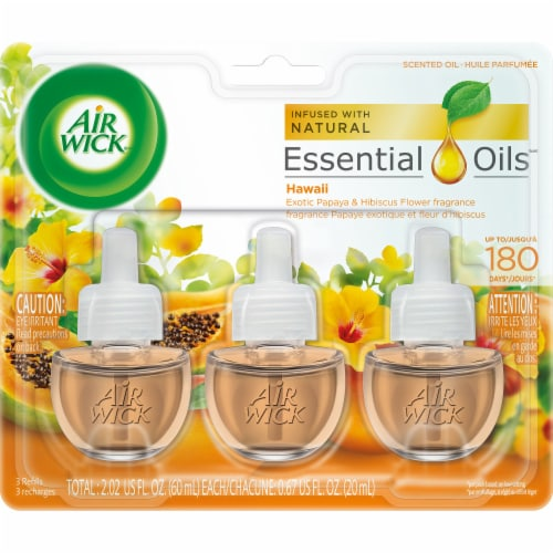 Air Wick Essential Oils Hawaii Fragrance Refills Perspective: front