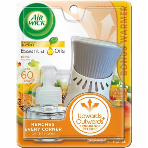 Air Wick Hawaii Scented Oil Warmer + Refill Perspective: front
