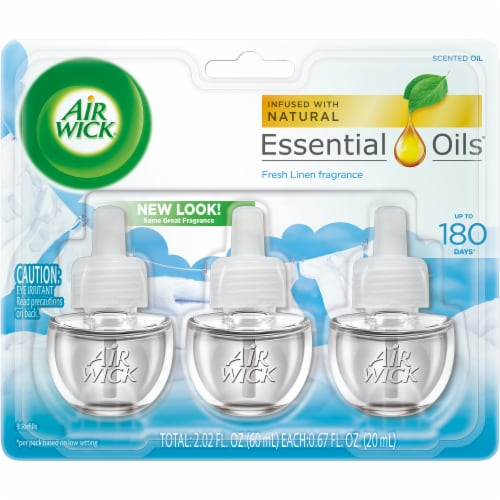 Air Wick Snuggle Fresh Linen Scented Oil Refills Perspective: front