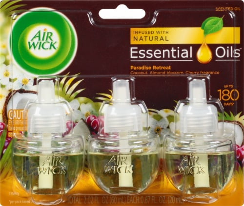 Air Wick Scented Oil Triple Refill Life Scent Paradise Retreat Perspective: front