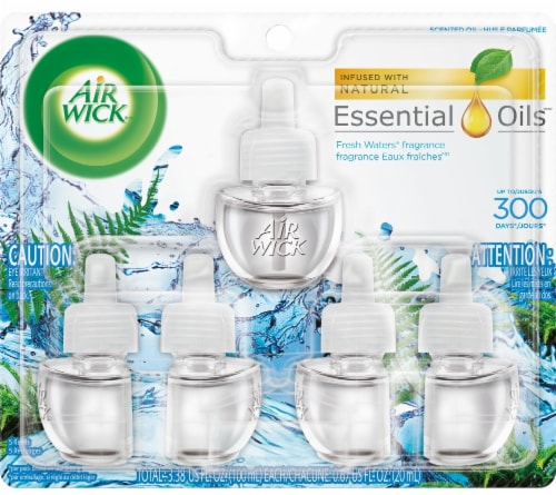 Air Wick Fresh Waters Essential Oils Refills Perspective: front