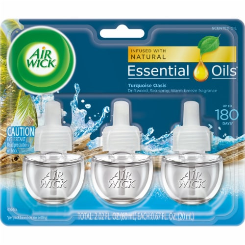Air Wick Scented Oil Triple Refill Turquoise Oasis Perspective: front