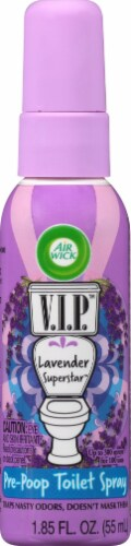Air Wick V.I.P Lavender Superstar Toilet Perfume Perspective: front