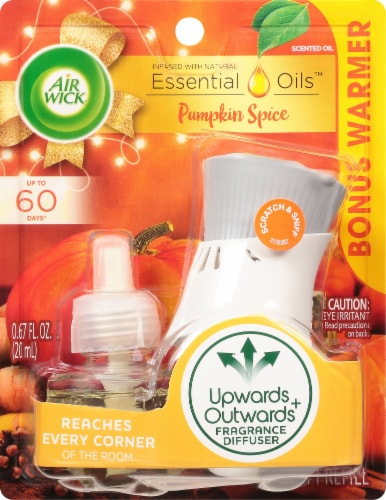 Air Wick Pumpkin Spice Scented Oil Starter Kit Perspective: front