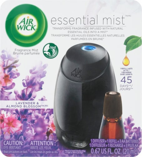 Air Wick Lavender Almond Blossom Fragrance Esential Mist Diffuser Perspective: front