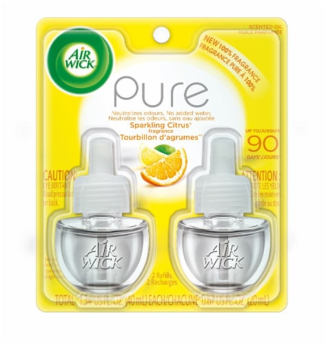Air Wick Pure Sparkling Citrus Refill Perspective: front