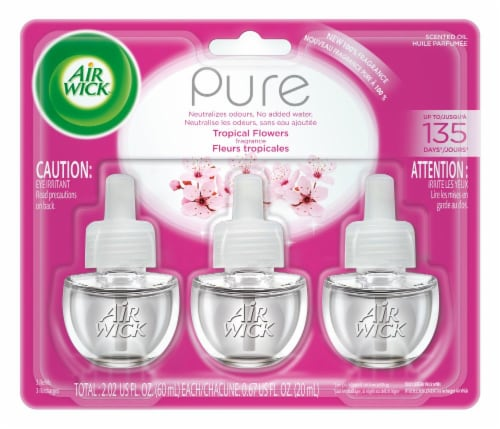 Air Wick Pure Tropical Flowers Refill Perspective: front