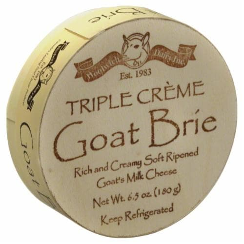 Woolwich Dairy Inc Triple Creme Goat Brie Perspective: front