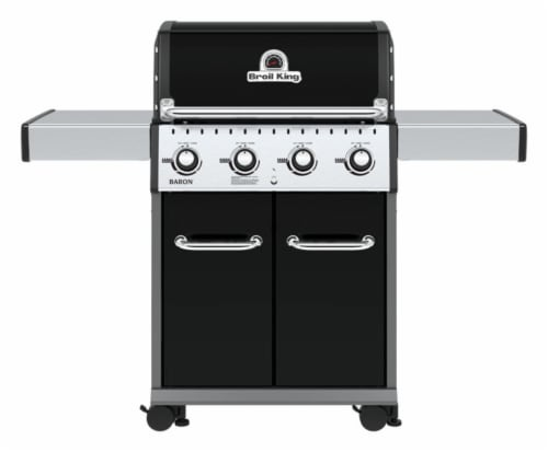 Broil King Baron PRO Series 4 burners Propane Grill Black 40000 BTU - Case Of: 1 Perspective: front