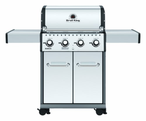 Broil King Baron PRO Series 4 burners Propane Grill Stainless Steel 40000 BTU Perspective: front