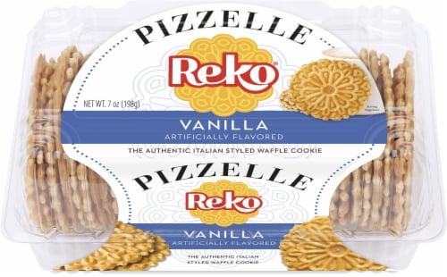Reko Pizzelle Vanilla Italian Waffle Cookies Perspective: front