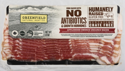 Greenfield Applewood Smoked Uncured Bacon Perspective: front