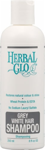 Herbal Glo Grey White Shampoo Perspective: front