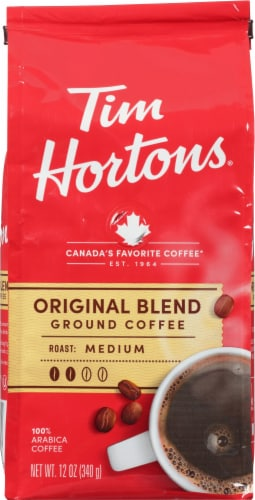 Tim Horton's Medium Roast Original Blend Ground Coffee Perspective: front