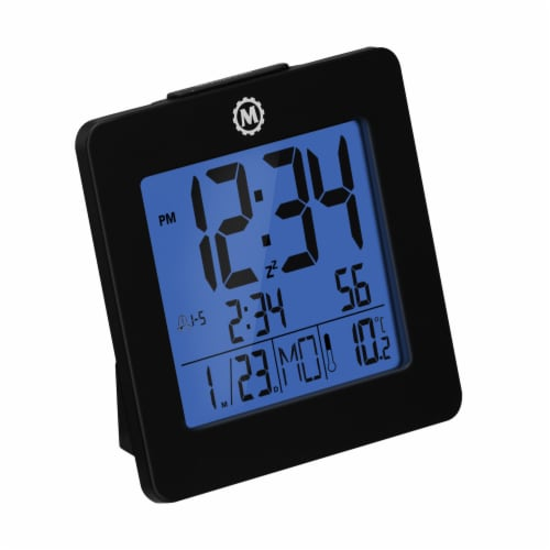 Marathon Digital Desktop Clock - Black Perspective: front