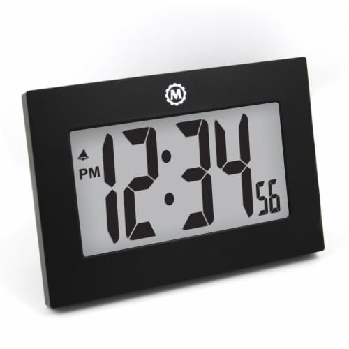 Marathon Large Fold-Out Table Stand Digital Wall Clock Perspective: front