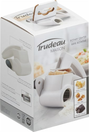 Trudeau Rotary Grater Drum - White Perspective: front