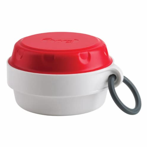 Trudeau 8 oz Food Container Snack on the Go, White Perspective: front