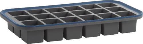 Trudeau Structure Silicone Ice Cube Tray - Gray Perspective: front