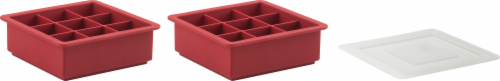 Trudeau Structured Silicone Ice Cube Tray Perspective: front
