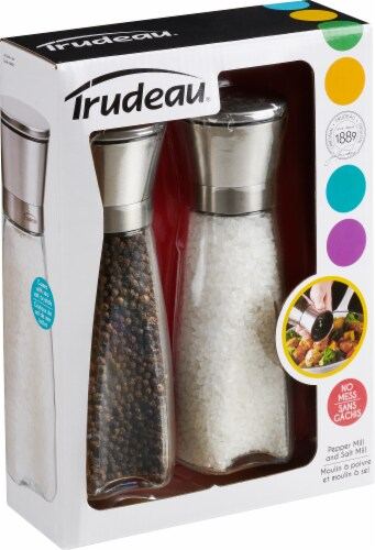 Trudeau Pepper and Salt Mills Perspective: front