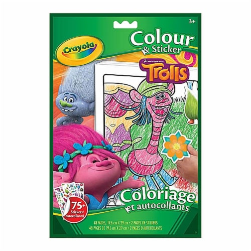 Crayola Colour & Sticker Book Trolls Perspective: front