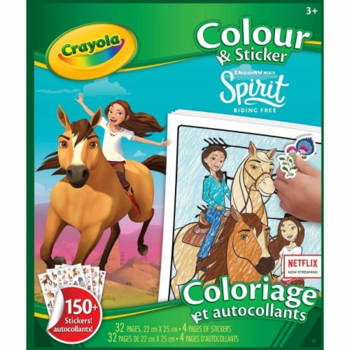 Crayola - Colour & Sticker Book Spirit Riding Free Perspective: front