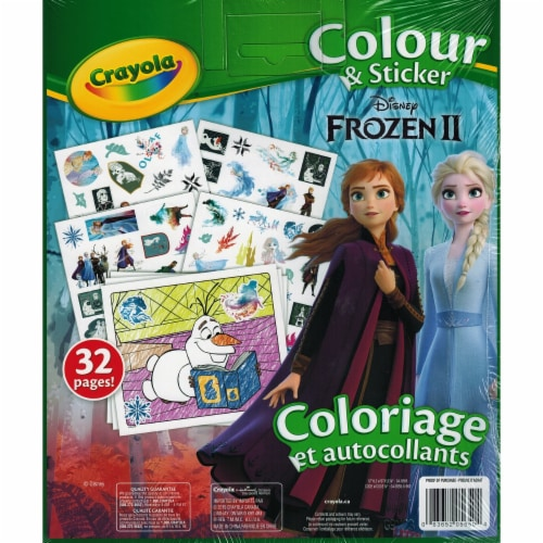Crayola 30372790 Disney Frozen II Color & Sticker Book - 50 Stickers - 32 Pages Perspective: front