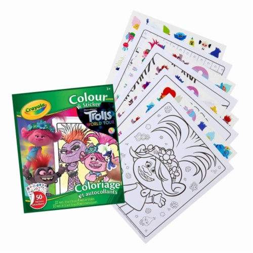 Crayola Color & Sticker Book - Trolls World Tour Perspective: front