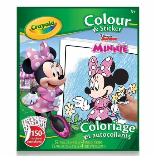 Crayola 30373940 Minnie Mouse Color & Sticker Book Perspective: front