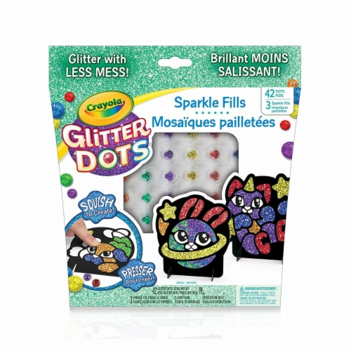 Crayola 30372975 Glitter Dots Magical Mosaics for Kids - Less Mess Mosaic Kit Perspective: front