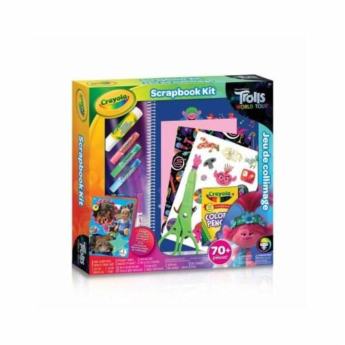 Crayola TROLLS WORLD TOUR Scrapbook Kit Perspective: front